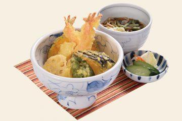 海老と旬野菜の天丼セット