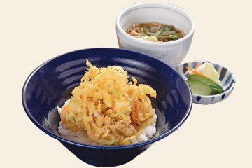 旬の海鮮かき揚げ丼セット