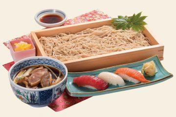 鴨セイロそば寿司セット