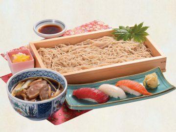 鴨セイロ寿司セット